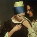Pige med perleørering billede